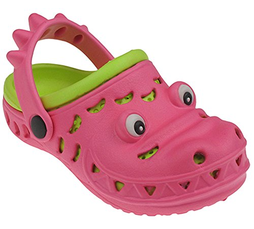 Capelli New York Later Gator Neon Toddler Girls Clog With Eyes Pink Combo 8/9 (Capelli New York Sandals compare prices)