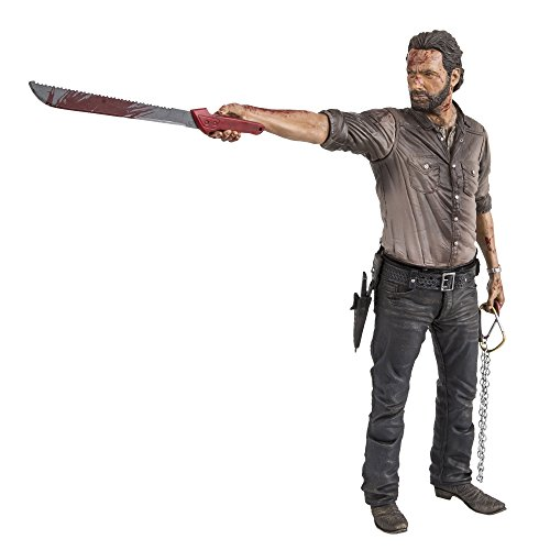 "Mcfarlane Toys The Walking Dead Tv 10"" Rick Grimes Vigilante Edition Deluxe Figura"
