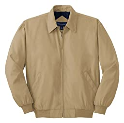 Port Authority Casual Microfiber Jacket>XS Khaki/Solid Bright Navy Lining J730