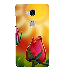 Printvisa Animated Blooming Tulip In Sunlight 3D Hard Polycarbonate Designer Back Case Cover For Huawei Honor 5X :: Huawei Honor X5:: Huawei Gr5