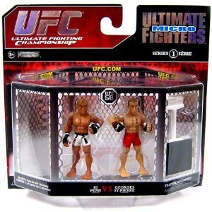 UFC Ultimate Fighting Jakks Pacific Series 1 Micro Figure 2Pack B.J. Penn vs. Georges St. Pierre UFC 58 - 1