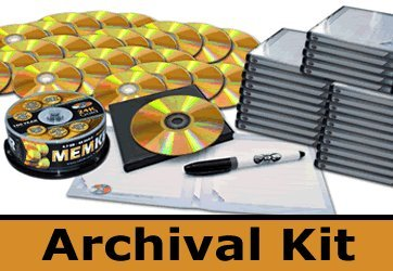 MemKeeper 25 Pack with MAM-A 100 Year 24K Gold DVDs, DiscKeeper UV Cases and SafeWrite Pen