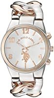 U.S. Polo Assn. Women's Quartz Metal and Alloy Casual Watch, Color:Two Tone (Model: USC40176)