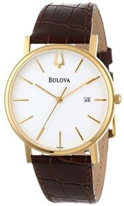 Bulova Men's 97B100 Strap White Dial Watch