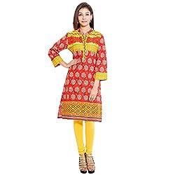 BELOMODA Women's Bright Cotton Kurta