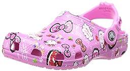 crocs Hello Kitty Good Times Clog,Petal Pink,8 M US Toddler