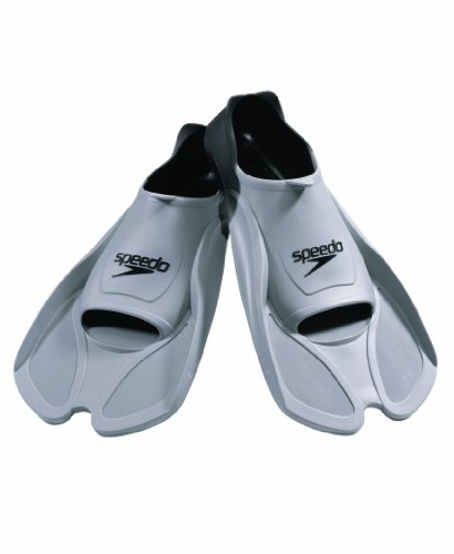 Speedo Biofuse Swim Training Fins (Grey/Black, X-Large) image