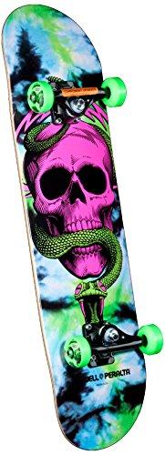 Powell-Peralta Black Light Skull and Snake Complete Skateboard, Tie Dye