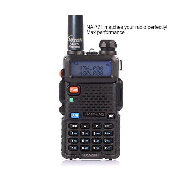 ANTENA NA-771 ANTENA DE 15.6 PULGADAS WHIP DUAL BAND UV VHF/UHF 144/430MHZ, Antenas SMA-F para Kenwood TYT BAOFENG UV-82 UV-B5 GT-3 BF-F8HP UV-5RA UV-5RE UV-5R por LUITON (2 Paquete)