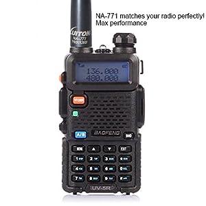 LUITON Nagoya series NA-771 15.6-Inch Whip VHF/UHF (144/430Mhz) Antenna SMA-Female for BaoFeng, Ruistar,AnyTone and Luiton Two Way Radio(2 Pack)