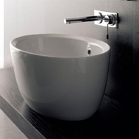 Scarabeo Scarabeo 8056-No Hole-637509860608 Luxury Drop-In Ceramic Sink, White