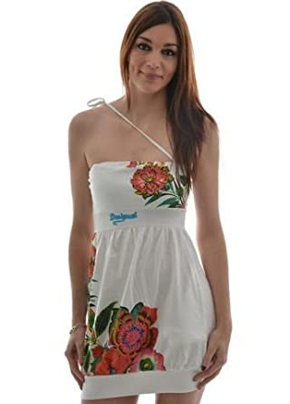 desigual robe desigual 42v2033 abril blanc taille m v tements et accessoires. Black Bedroom Furniture Sets. Home Design Ideas