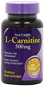 Natrol L-Carnitine 500mg Capsules, 30-Count