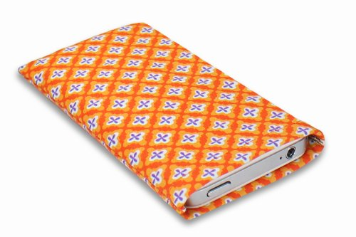 Janney [m]BAG orangecross Handytasche TASCHE aus für dein Anycool W007 mit Display Reinigungsfunktion durch Microfaserinnenfutter
