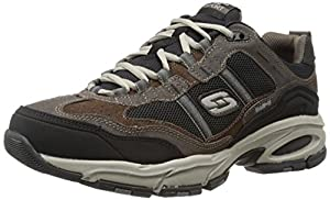 Skechers Sport Men's Vigor 2.0 Trait Memory Foam Sneaker, Brown/Black, 11.5 XW US