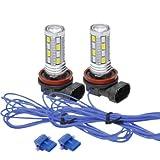デイライト LED フォグランプ LED デイライト兼ポジション機能付 H8 H11 H16 ツインカラー発光 デイフォグ ゴールド/ブルー ヴェルファイア 業界初