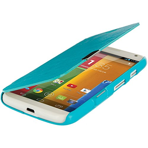 Cell Accessories For Less (Tm) Baby Blue Magnetic Wallet Case Cover Pouch For Motorola Moto G - By Thetargetbuys front-973217
