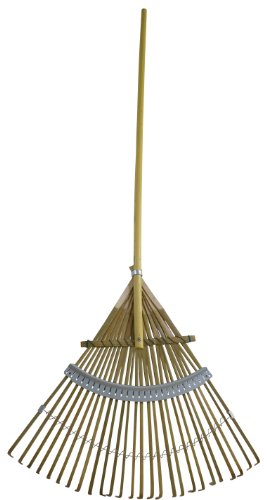 Flexrake CFP24 24-Inch Bamboo Rake with 48-Inch Wood Handle