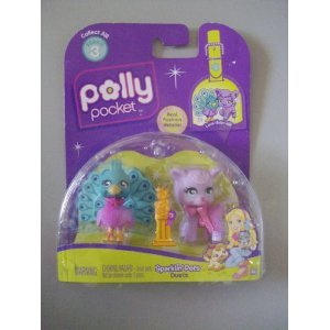Polly Pocket Sparklin' Pets Duets Peacock & Lamb - 1