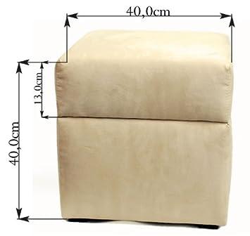 Pouf Cube Coffre De Rangement Alicante Box 40cm40cm Violet