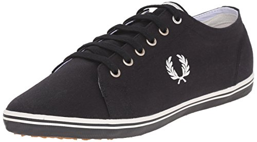 Fred Perry Men's Kingston Twill Fashion Sneaker, Black/Porcelain, 9 UK/10 D US (Perry Shoes compare prices)