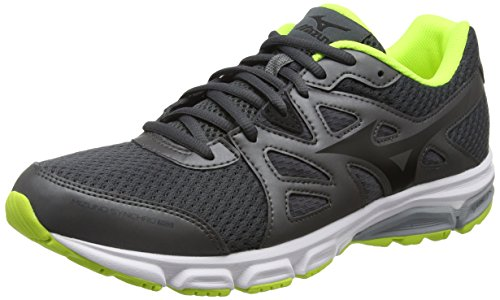Mizuno Synchro Md, Scarpe Running Uomo, Grigio (Dark Shadow/Black/Safety Yellow), 44