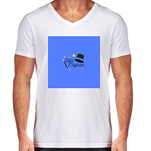v-neck-white-t-shirt-for-men-medium-size-little-magician-by-ilovecotton