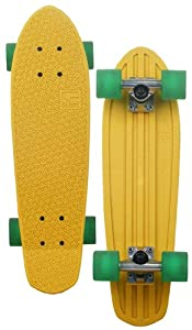 Globe Hg Retro Ripper Crusier Board (Yellow/Raw/Clear Green, 24-Inch)