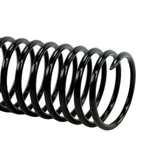 MyBinding.com 25mm Black 4:1 Pitch Spiral Binding Coil - 100pk Black