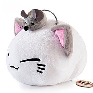 Cute Big Cat Plush Toy Pillow : Amazon.com: Super Cute Fluffy Cat Plush Toy Plush Pillow with Little Mouse on Head 32CM: Toys ...