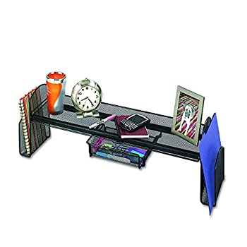 Safco Products Onyx Mesh Off-Surface Desk Organizer 3604BL, Black Powder Coat Finish, Durable Steel Mesh Construction