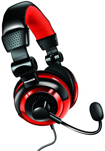 Dreamgear Universal Elite Wired Headset For Ps4, Ps3, Xbox 360, Wii, Wiiu And Pc - Black/Red