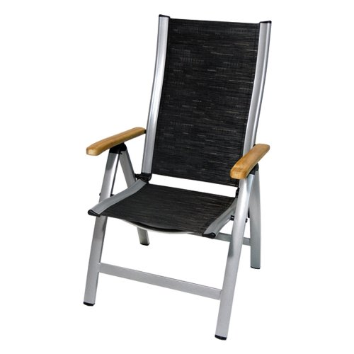 Sun Garden Sun Star Premium Fold Up Chair with Silver Aluminium Fram