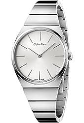 Calvin Klein Supreme Silver Stainless Steel Quartz Analog Women's Watch K6C2X146