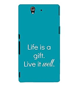 EPICCASE Life is a gift Mobile Back Case Cover For Sony Xperia Z (Designer Case)