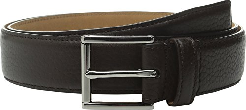 Cole Haan Men's 32mm Stitched Edge Pebble Leather Belt Dark Brown Belt 36 (Cole Haan Brown Belt compare prices)