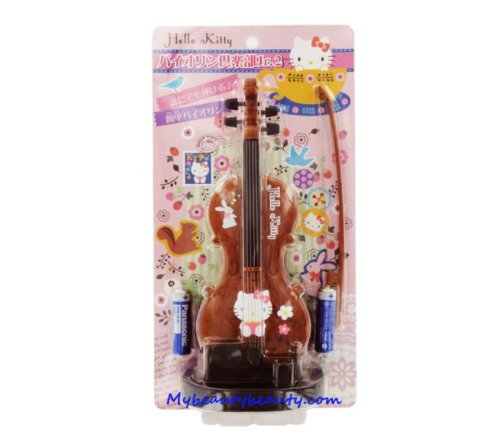 Hello Kitty Christmas Gift Licensed Electronic Toy Violin Musical Instrument Brown Japan Version