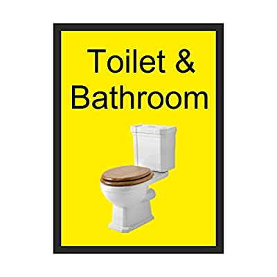 Toilet & Bathroom Dementia sign Rigid Plastic 200mm x 300mm