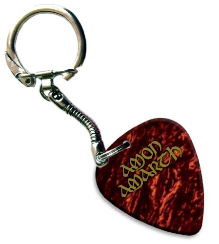 Amon Amarth Hot Foil Pick anello portachiavi plettro per chitarra (Tortoise Shell)