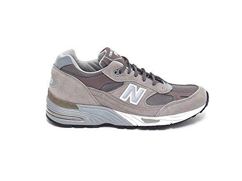Sneakers uomo New Balance, M 991, camoscio nylon tortora nr 42.5 A6102