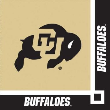 Creative Converting University of Colorado Buffaloes Beverage Napkins (20 Count)