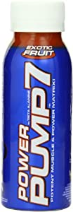 VPX Power Pump 7 Performance-Boosting RTD Beverage, Exotic Fruit, 8-Ounce Bottles (Pack of 24)