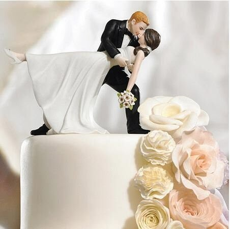 Willow Tree Funny Posture Bride and Groom Wedding Cake Topper.