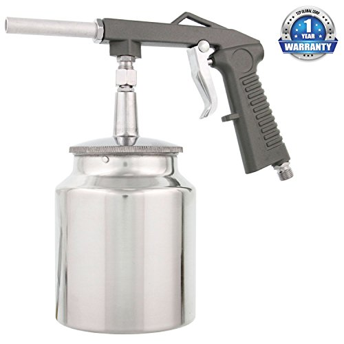 TCP Global Brand Pneumatic Air Undercoating Gun with Suction Feed Cup Also for Spraying Truck Bedliner and Rust Proofing Products (Pneumatic Water Gun compare prices)