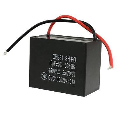 uxcell 450VAC 10uF 50/60Hz Fan Motor Running Capacitor CBB61
