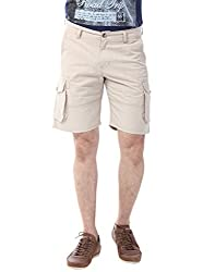 YOO Beige color SHORTS for men