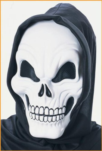 Rubies Halloween Scary Skeleton Mask Glow in the Dark Adult Size