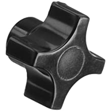 "DimcoGray Black Phenolic 4 Prong Knob Female, Brass Insert: 5/16-18"" Thread x 7/16"" Depth, 1-1/4"" Diameter x 7/8"" Height x 5/8"" Hub Dia x 3/8"" Hub Length (Pack of 10)"