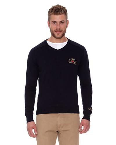 CLK Jersey V Neck Sweater