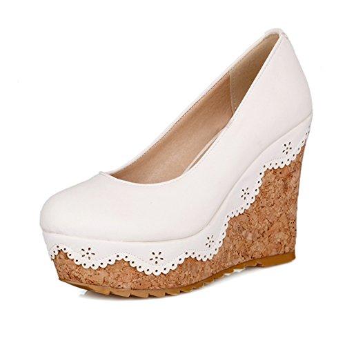 La signora aiutare le scarpe basse impermeabili/Rotonde cunei della bocca poco profonde-A Lunghezza piede=22.8CM(9Inch)
